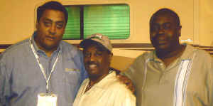 Chris Hill, Johnny Scorpio Jackson - former PD of Rhythm 86 Robert Kool Belle 2008.jpg (529305 bytes)