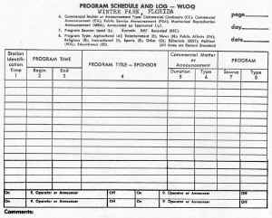 WLOQ Program Log mid 60s.jpg (86893 bytes)